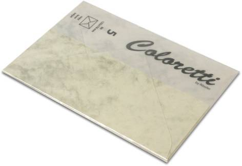 Briefumschlag Coloretti B6 5Er Pack Chamois Marmora