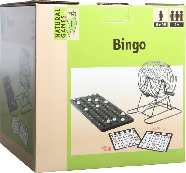 Natural Games Bingo mit Metallkorb