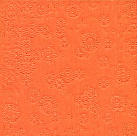 Serviette 33x33cm uni Moments orange